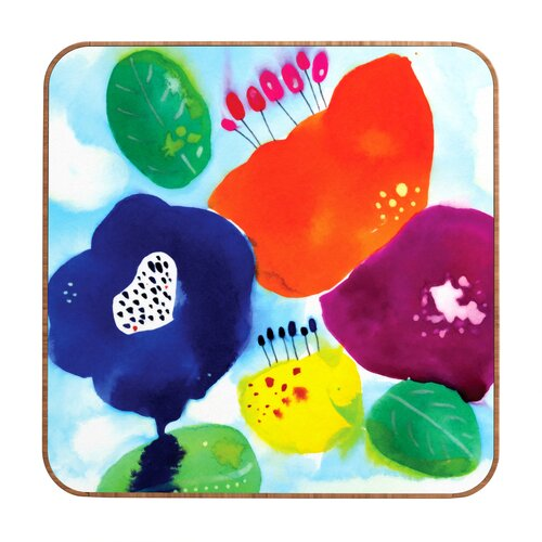 DENY Designs CayenaBlanca Big Flowers Framed Painting Print Plaque