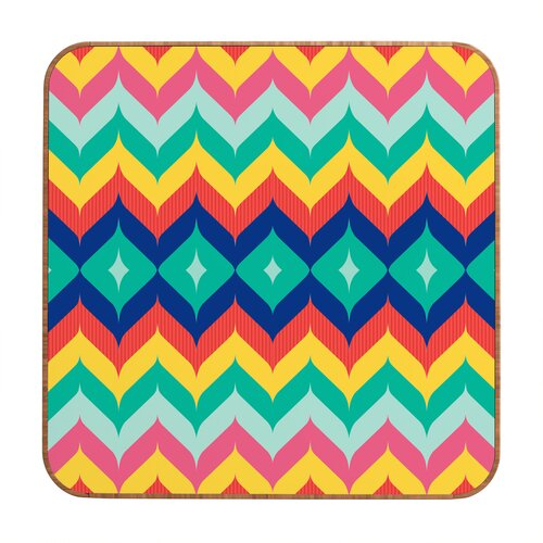 DENY Designs Chevron 5 by Juliana Curi Framed Graphic Art Plaque