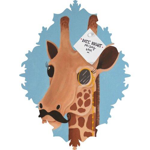 DENY Designs Mandy Hazell Gentleman Giraffe Baroque Magnet Memo Board