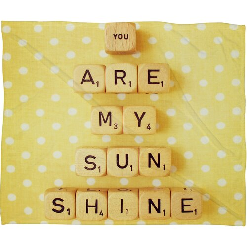 Happee Monkee You Are My Sunshine Polyesterrr Fleece Throw Blanket