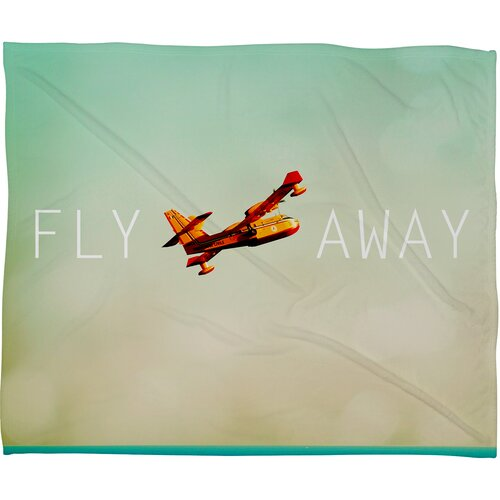 Happee Monkee Fly Away Fleece Polyesterrr Throw Blanket