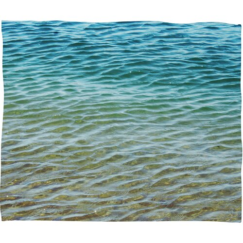 Shannon Clark Ombre Sea Polyesterr Fleece Throw Blanket