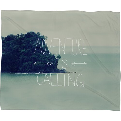 Leah Flores Adventure Island Polyesterrr Fleece Throw Blanket