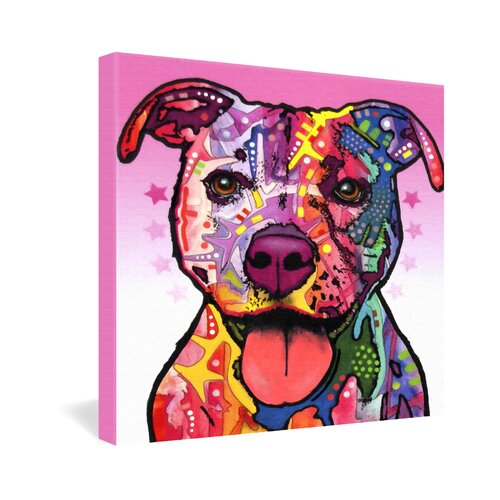 DENY Designs Cherish The Pitbull by Dean Russo Graphic Art on Canvas