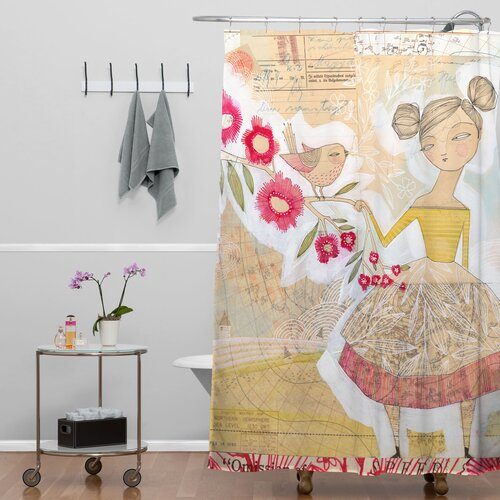 DENY Designs Cori Dantini Woven Polyester The Secret To Happiness Shower Curtain