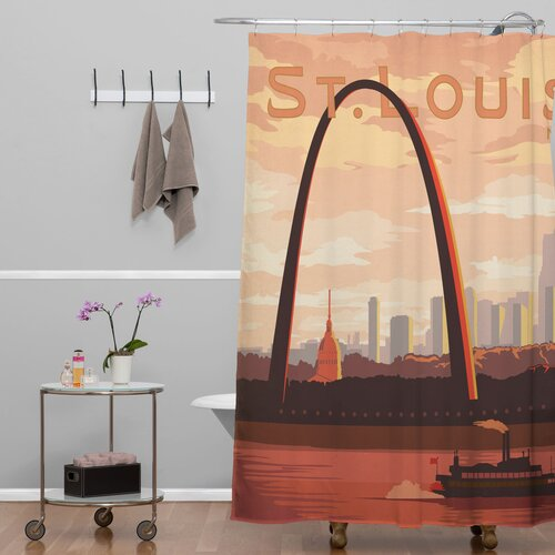 DENY Designs Anderson Design Group Woven Polyester Saint Louis Shower Curtain