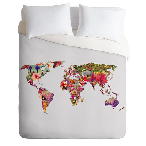 Bianca Green Its Your World Microfiber Duvet Cover