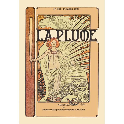 Buyenlarge Plume by Mucha Vintage Advertisement on Canvas