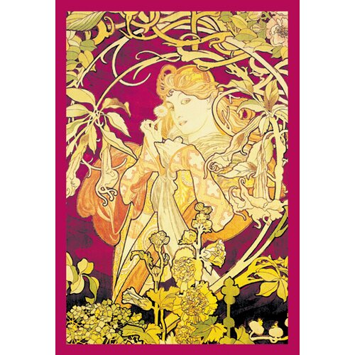 Ivy by Mucha Graphic Art on Canvas
