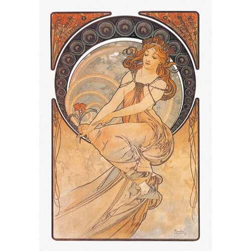 Painting by Mucha Painting Print on Canvas