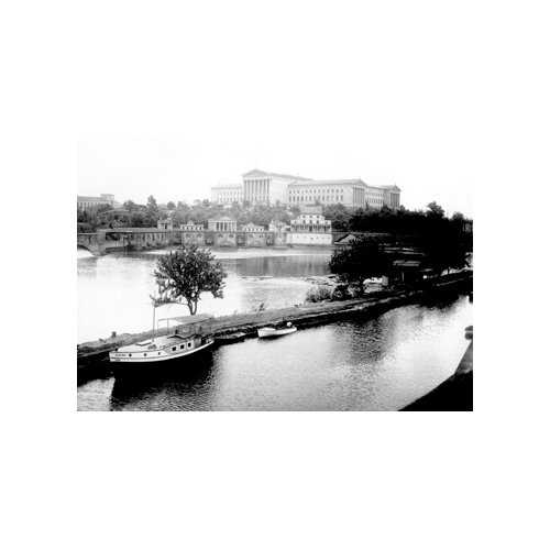 Dock on the River by The Art Museum, Philadelphia, PA Photographic Print on Canvas