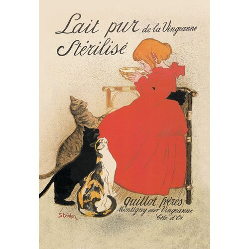 Buyenlarge Lait pur de la Vingeanne Sterilise by Steinlen Vintage Advertisement on Canvas