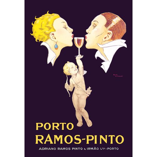 Buyenlarge Porto Ramos-Pinto by Rene Vincent Vintage Advertisment on Canvas