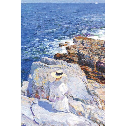 Southern Rock Riffs, Appledore by Frederick Childe Hassam Painting Print on Canvas