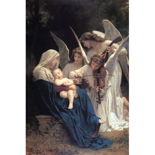 Song of the Angels by William-Adolphe Bouguereau Painting Print on Canvas