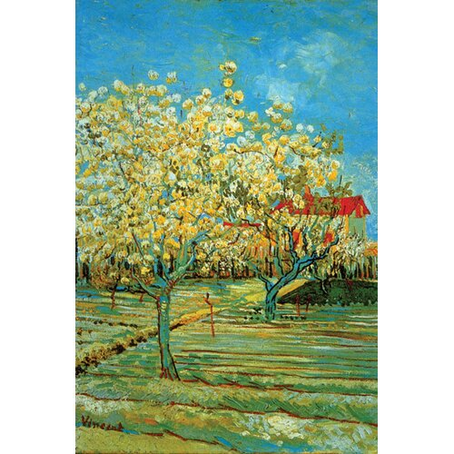 Buyenlarge Orchard with Cypress by Vincent Van Gogh Painting Print on Canvas