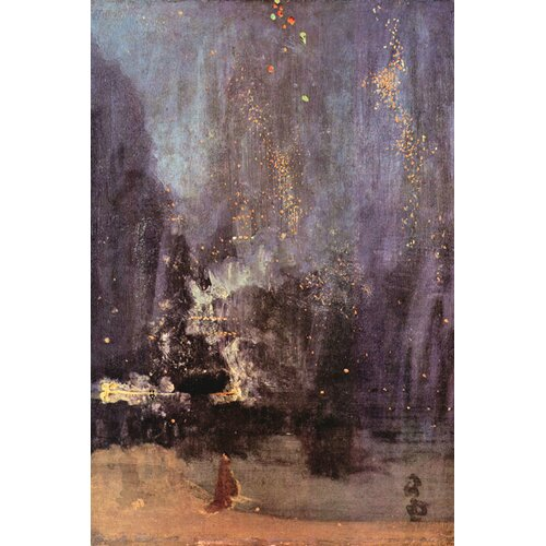 Buyenlarge Nocturne, The Falling Rocket Painting Print on Canvas
