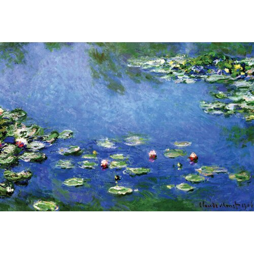 Buyenlarge Water Lilies by Claude Monet Painting Print on Canvas