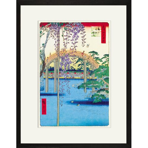 Grounds of the Kameido Tenjin Shrine by Hiroshige Framed Graphic Art