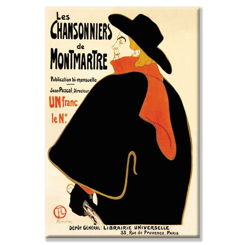 Chansonniers de Montmartre by Henri de Toulouse-Lautrec Vintage Advertisement on Canvas