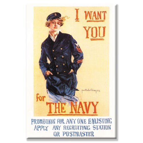 Buyenlarge I Want You for the Navy by Howard Chandler Christy Vintage Advertisement on Canvas