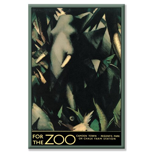 For The Zoo Vintage Advertisement on Canvas