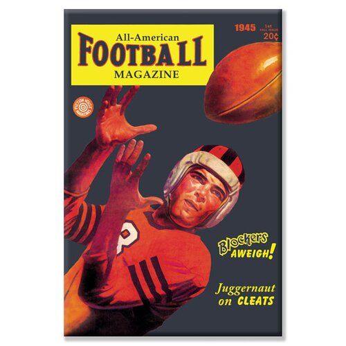 Buyenlarge All-American Football Magazine by Wilbur Pierce Vintage Advertisement on Canvas