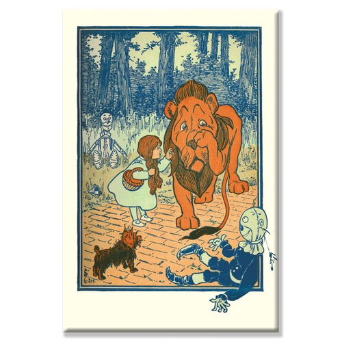Buyenlarge Cowardly Lion by W. W. Denslow Vintage Advertisement on Canvas