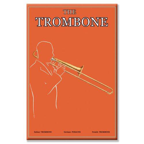 Trombone Vintage Advertisement on Canvas