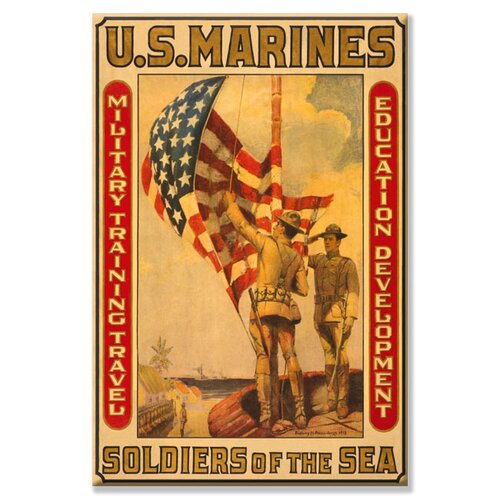 Soldiers of the Sea Military Training Travel Education Development Vintage Advertisement on Canvas