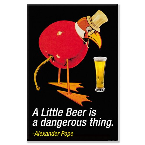 Little Beer is a Dangerous Thing - Alexander Pope Vintage Advertisement on Canvas