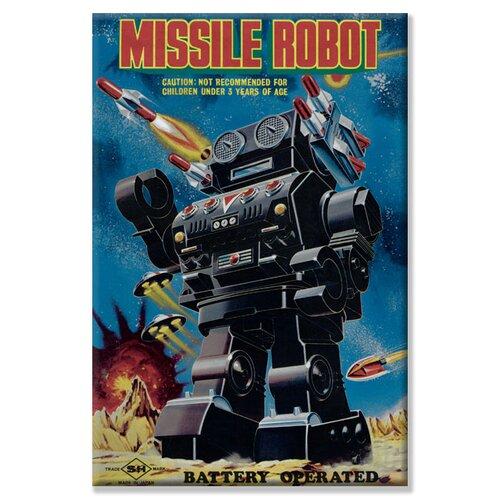 Buyenlarge Missile Robot Vintage Advertisement on Canvas