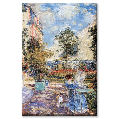 Buyenlarge In a French Garden Painting Print on Canvas
