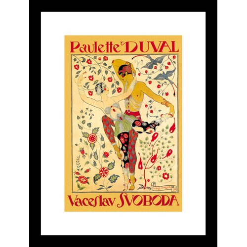Buyenlarge Paulette Duval and Vaceslv Svoboda Dance Framed Vintage Advertisement