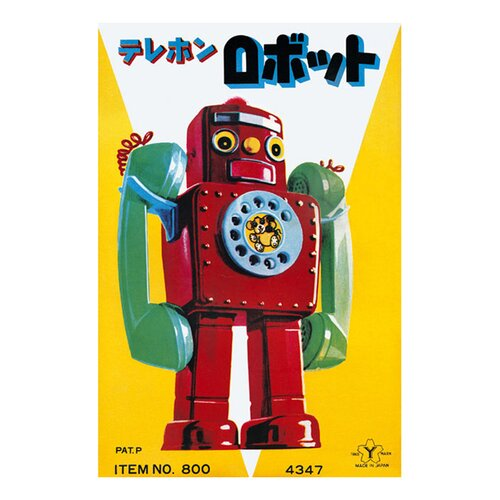Buyenlarge Telephone Robot Vintage Advertisement on Canvas