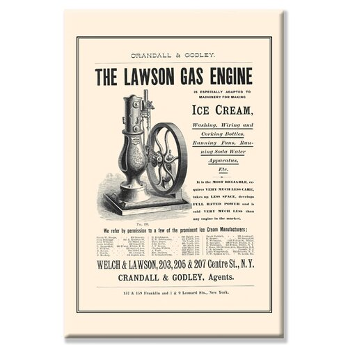 Buyenlarge The Lawson Gas Engine Vintage Advertisement on Canvas