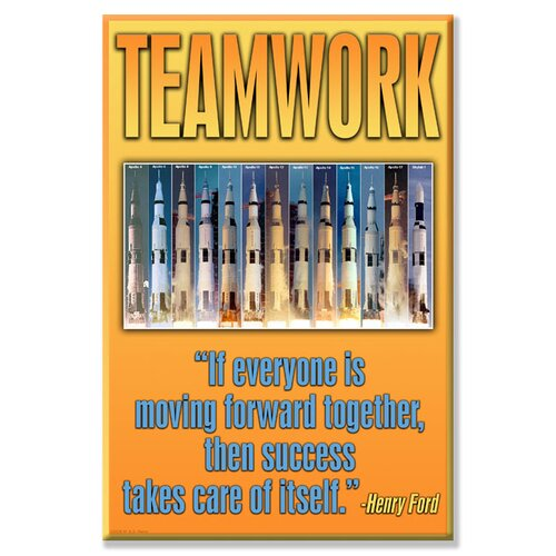 Teamwork Textual Art on Canvas