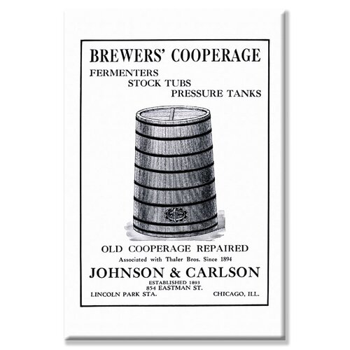 Brewers' Cooperage Vintage Advertisement on Canvas