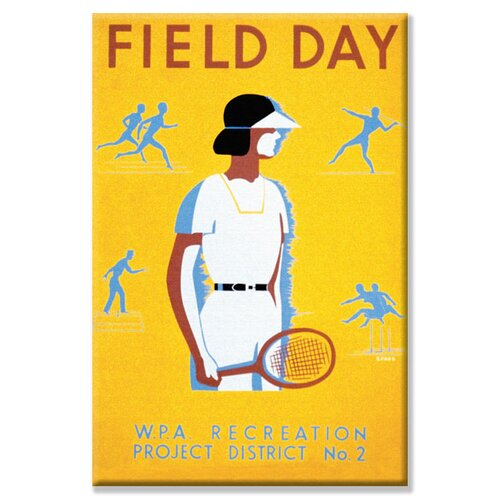 Field Day Vintage Advertisement on Canvas