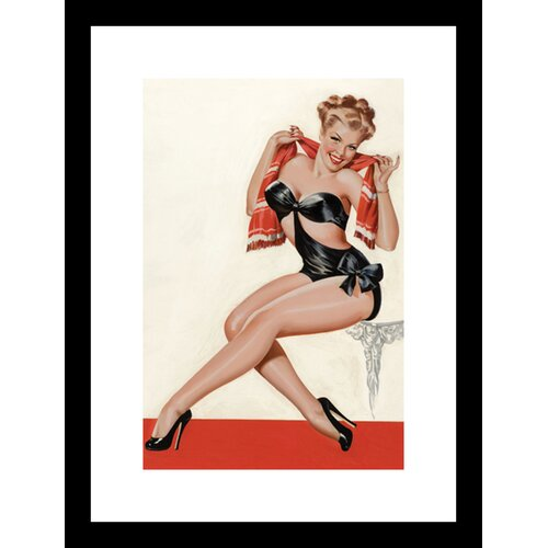 Wink Magazine: Silk Stockings and High Heels Framed Graphic Art