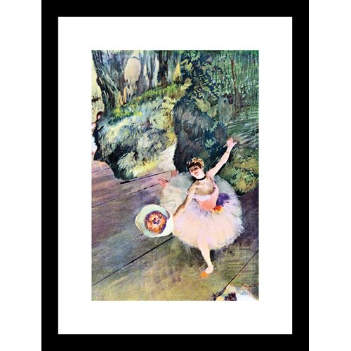 Dancer with a Bouquet of Flowers (The Star of The Ballet) Framed Painting Print