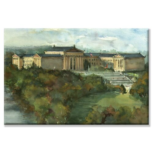 Phila Art Museum Painting Print on Canvas
