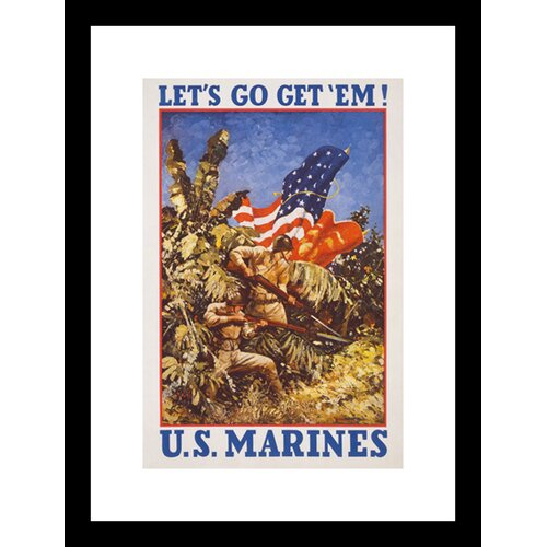 Let's Go Get 'Em! Framed Vintage Advertisement