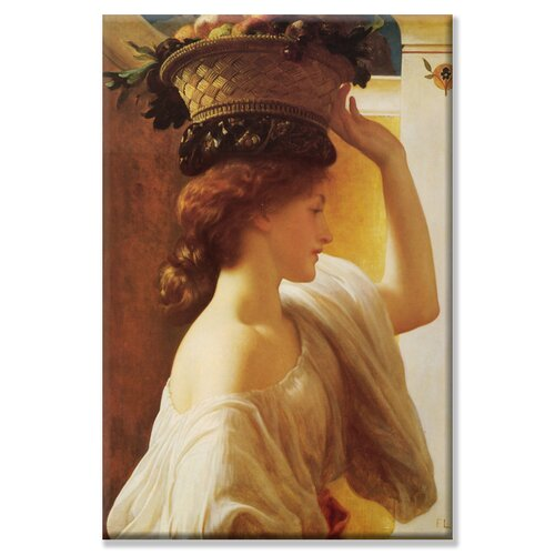 Eucharis Girl with a Basket of Fruit Painting Print on Canvas