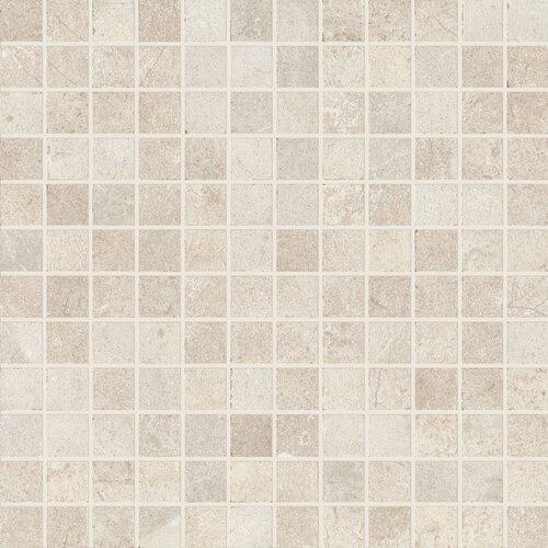 "Marca Corona Italian Stone 12"" x 12"" Porcelain Mosaic in Grigio"