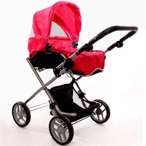 The New York Doll Collection Bassinet Doll Stroller
