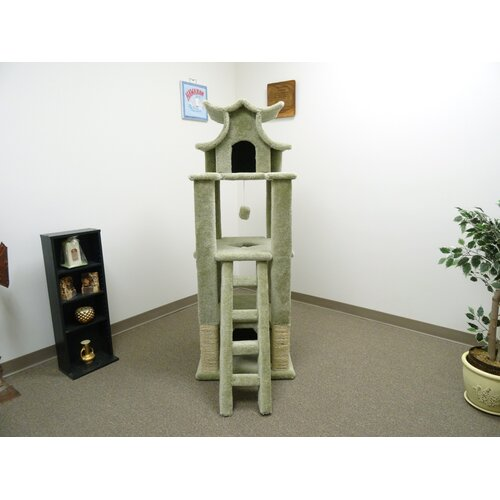 "New Cat Condos 67"" Designer Pagoda Cat Tree"