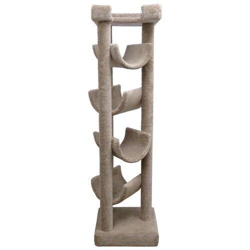 New Cat Condos 72 Premiere Solid Wood Skyscraper Cat Tree Reviews Wayfair