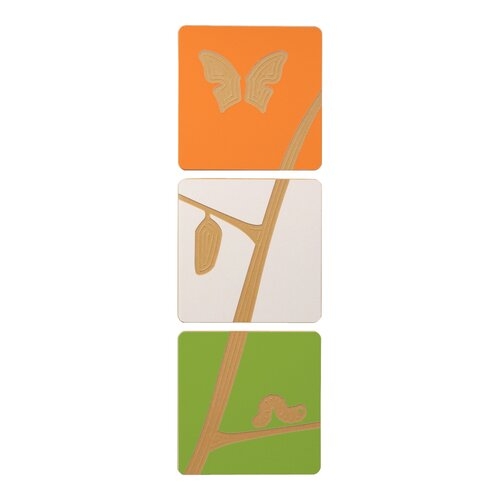 Sprout Caterpillar to Butterfly Tile Graphic Art Set