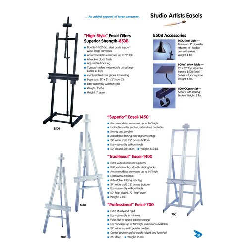 Testrite Traditional Easel
